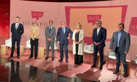 Montserrat Figuerola participa en un debat amb destacats líders empresarials sobre els reptes de la nova economia