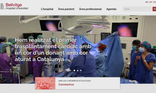 Estrenem nova 'home' al web corporatiu de l'hospital