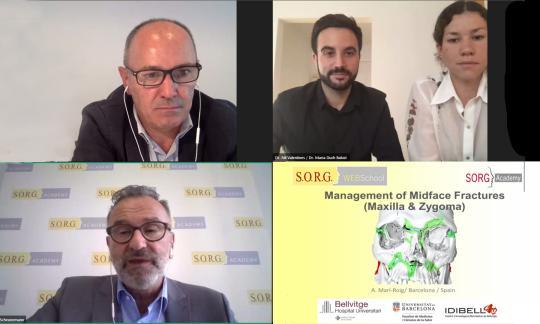 El Dr. Antonio Marí imparteix un webinar internacional sobre fractura facial